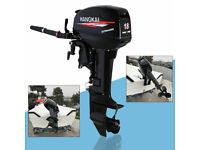 2 Stroke 246CC 18 HP Outboard Engine Motor CDI  Cooling System 5000rpm-6000rpm