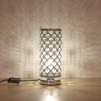 Decorative Crystal Table Lamp Desk Bedside Nightstand Reading Nightlight Gifts - Decorate Desk
