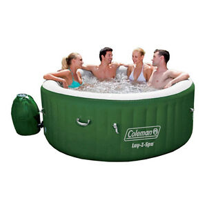 Inflatable Hot Tub Coleman Spa Jetted Tubs 4 to 6 Person Por
