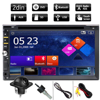 "HD 7"" In Dash Double 2 Din Car Stereo DVD Player Touchscreen Auto Radio +Camera"