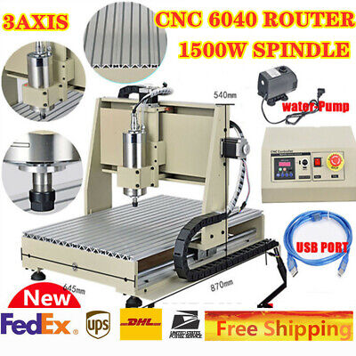 Cnc Router Machine Usb 3 Axis 6040 Engraver Drilling Milling Carve Water-cooling