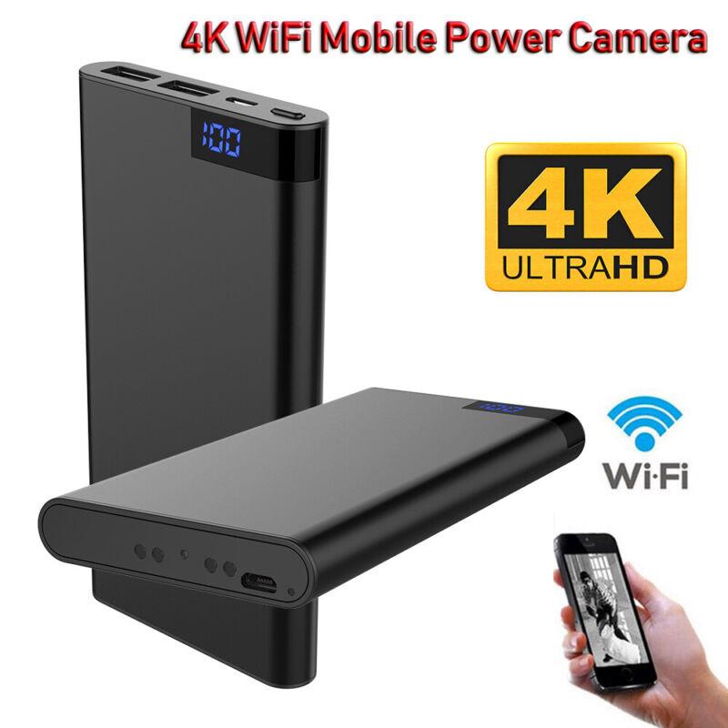 10000mAh Power Bank 4K WIFI 1080P Spy Hidden Camera Night Vision Camcorder