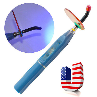 Usa Blue Dental 5w Wireless Cordless Led Curing Light Lamp 1500mw For Dentist