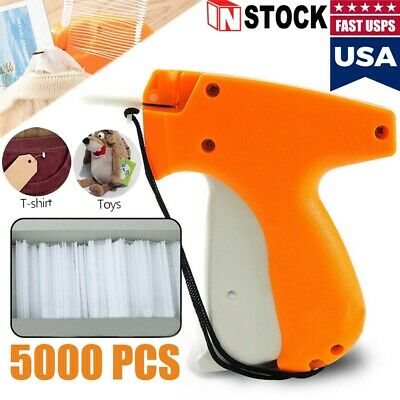 New Garment Price Label Tagging Tag Gun Needle Machine 5000 Pcs 1 Or 2 Barbs
