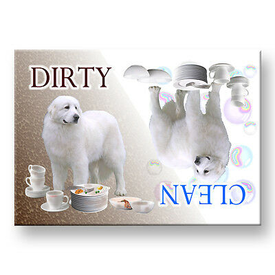 GREAT PYRENEES Clean/Dirty DISHWASHER MAGNET New DOG