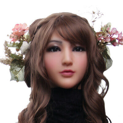 Life Like Masks Halloween (Western lovely Barbie Lifelike Silicone Mask For Crossdressers Halloween)