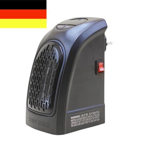 DE Elektrische Mini Heizung Heizlüfter 350W Tragbar Für Steckdose Badezimmer