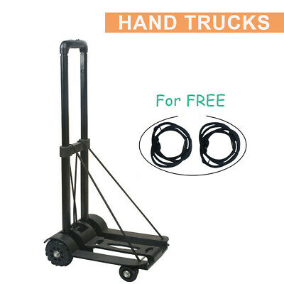 170lbs Portable Cart Folding Dolly Collapsible Trolley Push Hand Truck Luggage