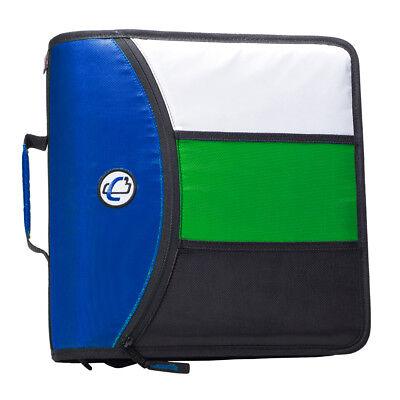 Case-it The Mighty Zip Tab 3 O-ring Zipper Binder D-156-b Wtab File Blue