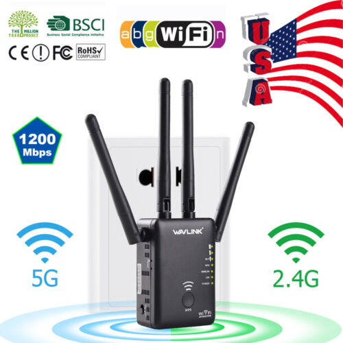 AC1200 WiFi Repeater Wireless Extender Booster Router Dual B
