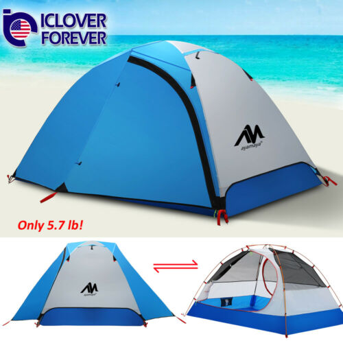 2 Person Ultralight Tent Backpacking Camping Dome Waterproof Double Layer Hiking
