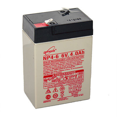 Enersys Genesis 6V 4Ah Battery Replacement For Yuasa Np4 6