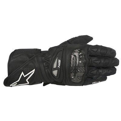 Alpinestars SP-1 Leather Motorcycle Motorbike Sports Gloves Black RRP £129.99 (Alpinestars Sp1 Motorcycle Gloves)