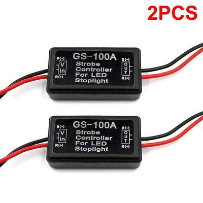 - 2PCS GS-100A LED Brake Stop Light Strobe Flash Module Controller Box Car Vehicle