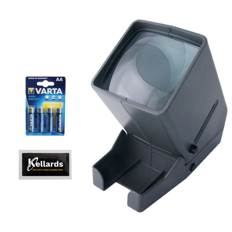 Medalight 35mm LED Negative and Slide Viewer w/ AA Batt & Screen Cleaning Cloth