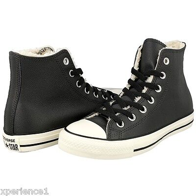 Charcoal Converse Sneakers - Chuck Taylor Fur lined boots.  Mens 3 W 5