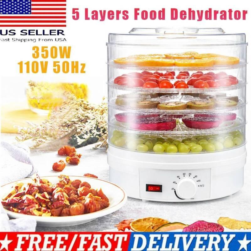 5 Tray Food Dehydrator Height Adjustable Fruit Dryer Meat Je