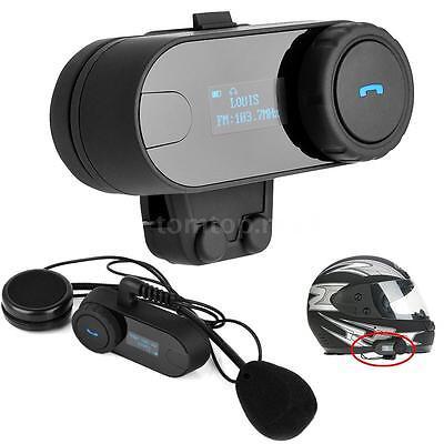 Freedconn Motorcycle Helmet Bluetooth Headset Intercom Interphone For Phone Z9V4
