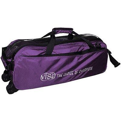 purple 3 ball tote bowling bag