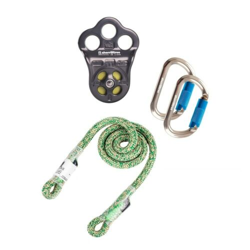 DMM HITCH CLIMBER PULLEY KIT W/ 8MM NOTCH WRAP STAR PRUSIK & 2 OVAL CARABINERS