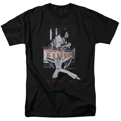 Elvis Presley Las Vegas International 1970 Legend Classic Music T Shirt Tee