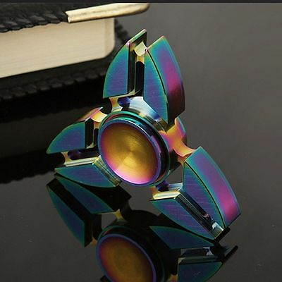 Tri-Spinner Pliers Rainbow Zinc Alloy EDC Hand Spinner Fidget Finger Gyro Focus