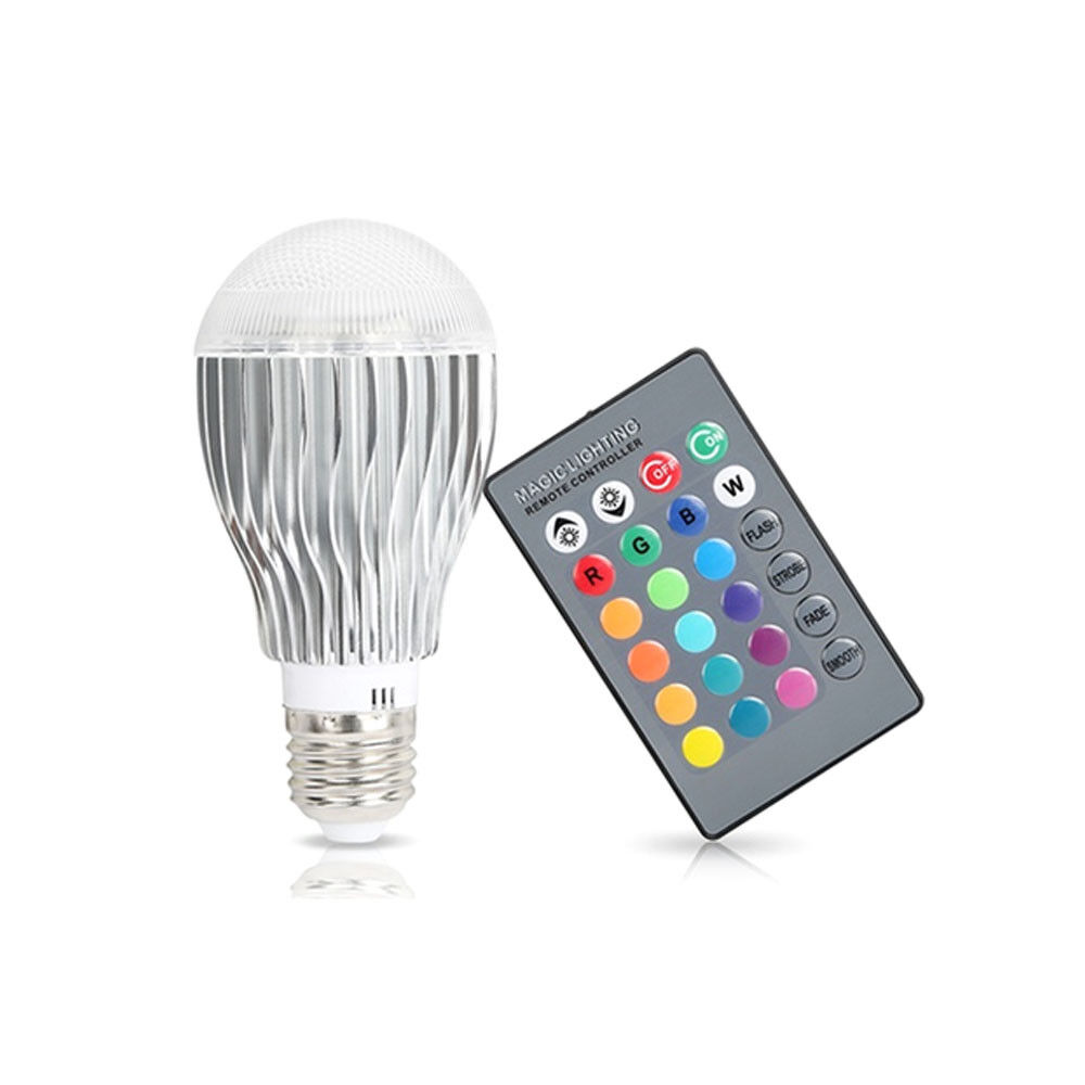 2 Pack: Multi-Color LED Light Bulbs with Remote