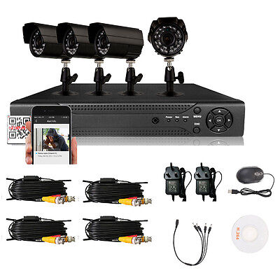 Outdoor Video 4CH 960H HDMI CCTV Video DVR Night Vision Camera Security System