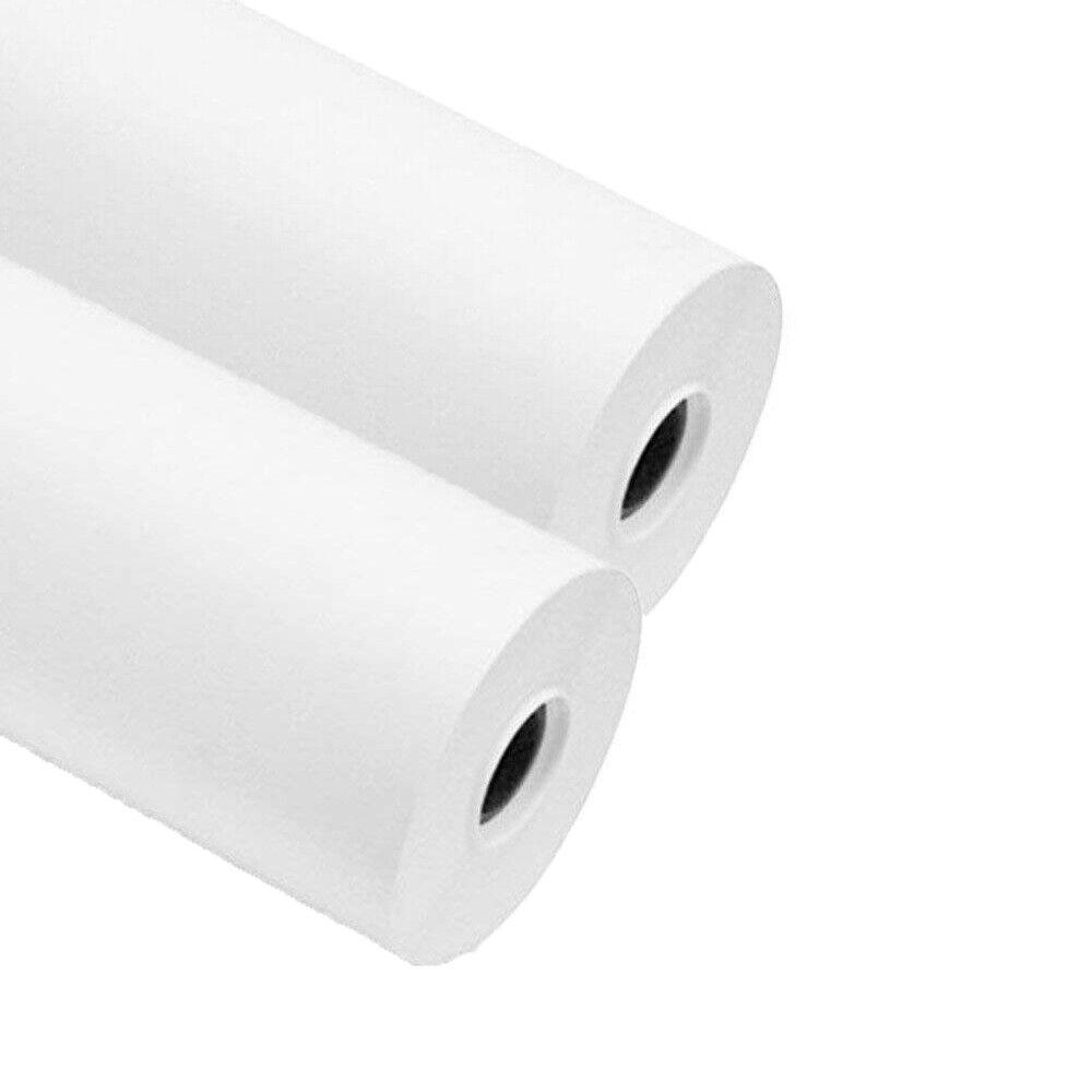 2 Brötchen Plotterfolie 61Cm x50mt Papier 90 Gramm Professional Cad Weiß
