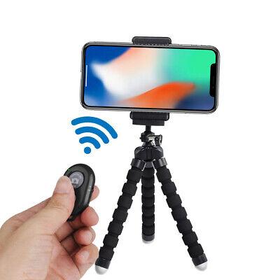 "6.5"" Flexible Smartphone Tripod Bluetooth Remote for iPhone Xs, Max 8+ 8 7 Plus"