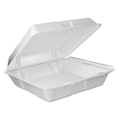 Dart Vented Takeout Foam Clamshell Food Containers  - DCC90HTPF1VR