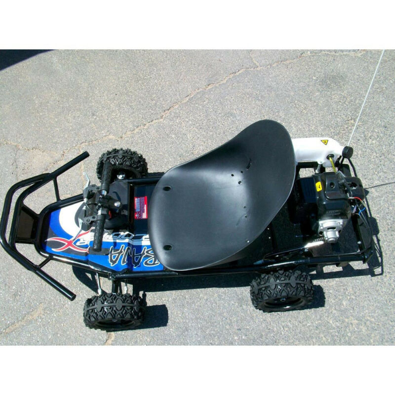 49cc Gas powered GO KART Off Road cart ScooterX Baja Black Blue mini kid