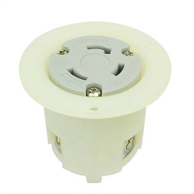Twist Lock Flange Receptacle 3 Wire 30 Amps 125v Nema L5-30r - Ygf038f