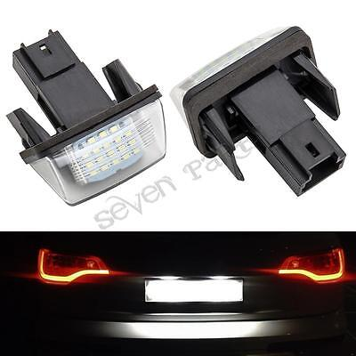 2x ERROR FREE LED License Number Plate Light For Peugeot 206 306 406 207 307 407