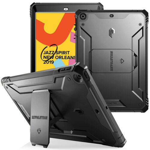 For Apple iPad 10.2  Tablet Case,360° Protective Cover Blac