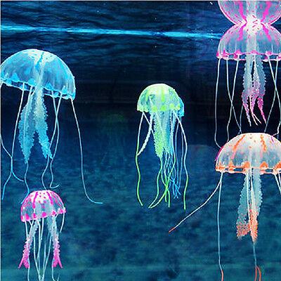 5pcs Artificial Glowing Effect Fish Tank Decoration Aquarium Jellyfish Ornament