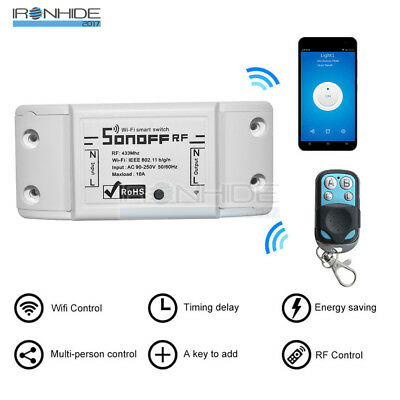 Sonoff RF WiFi Wireless Home Smart Switch Module Socket+433Mhz Remote Control