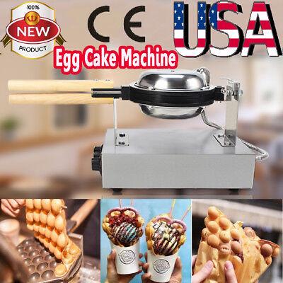 Electric Bubble Egg Cake Maker Oven Waffle Pan Kitchen Baker Machine Non-Stick