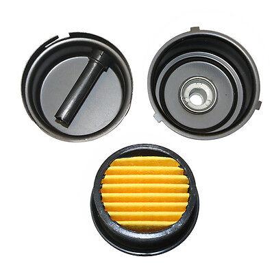 Compressor Air Intake Filter Rep 12 Mpt Paper Cartridge Metal Silencer- Sa142
