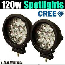 "7"" CREE 120w led spotlights + wiring harness spotties lamp light Craigie Joondalup Area Preview"