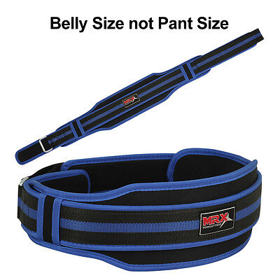 "MRX Weight Lifting Belts Back Support Gym Fitness Belt 5"" Wide Blue 2XL"