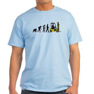 - CafePress Evolution Of Man Forklift Driver T Shirt Light T-Shirt (1213991425)