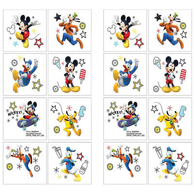 (16 Disney Mickey Mouse Clubhouse Temporary TATTOOS Birthday Party Favors 2 Sheet)