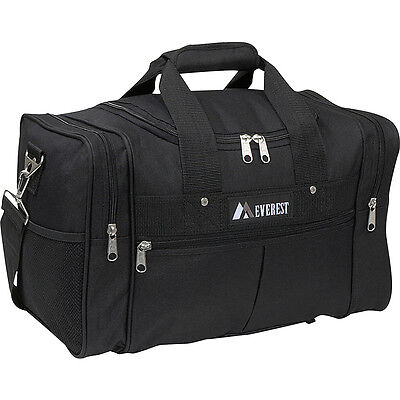 "Everest 17.5"" Travel Gear Bag - Black Travel Duffel NEW"