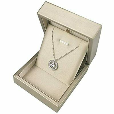 Premium Pendant Necklace Gift Box - Elegant Long Chain Jewelry Display Storage