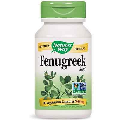 Nature's Way Fenugreek Seed Vegetarian Capsules, 610 mg 100 ea