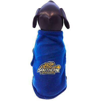 NCAA Southern Jaguars Sleeveless Polar Fleece Dog Sweatshirt, Small