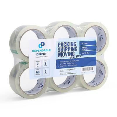 Industrial Grade Clear Packing Shipping Packaging Tape 60 Yards Roll - 6 pack
