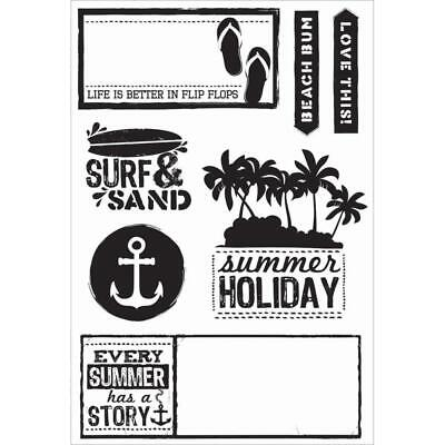 Kaisercraft Clear Stamps - Sandy Toes 6x4 - Travel Seaside Beach Holiday
