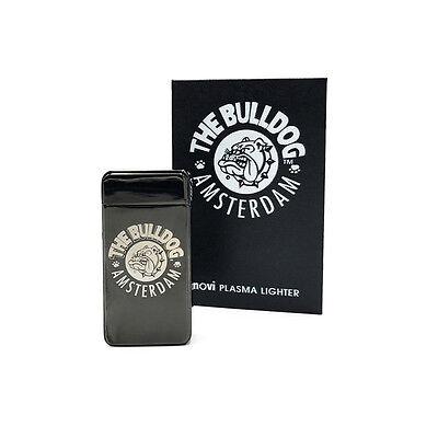 ★ACCENDINO AL PLASMA THE BULLDOG AMSTERDAM RICARICABILE USB NOVI TITANIUM★